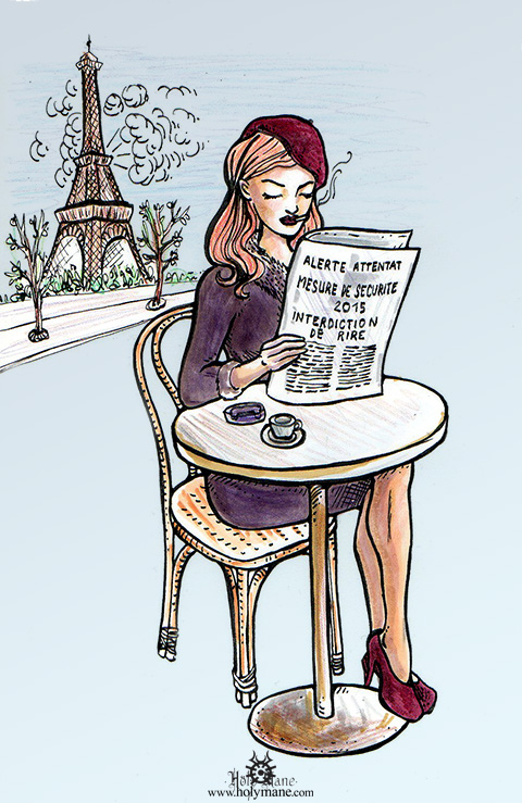 Charlie Hebdo hommage illustration presse